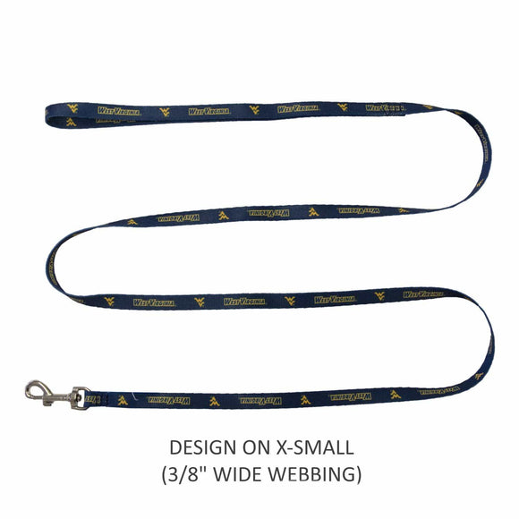 Little Earth Productions Dog-products NCAA S/M West Virginia Mountaineers Pet Nylon Leash