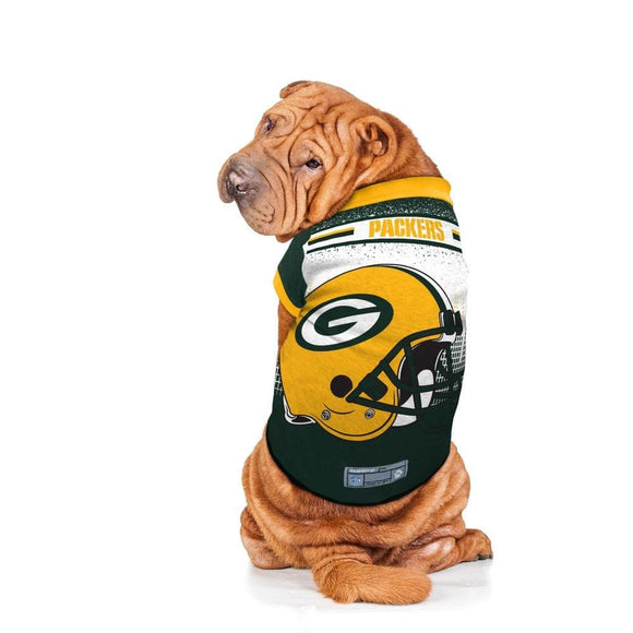 Little Earth Productions Dog-products NFL XS Green Bay Packers Pet Performance Tee