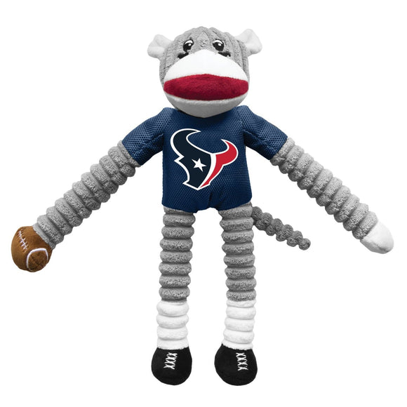 Little Earth Productions Dog-products NFL Houston Texans Sock Monkey Pet Toy