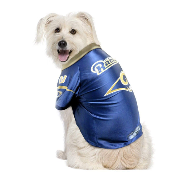 Little Earth Productions Dog-products NFL Big Dog Los Angeles Rams Pet Premium Jersey