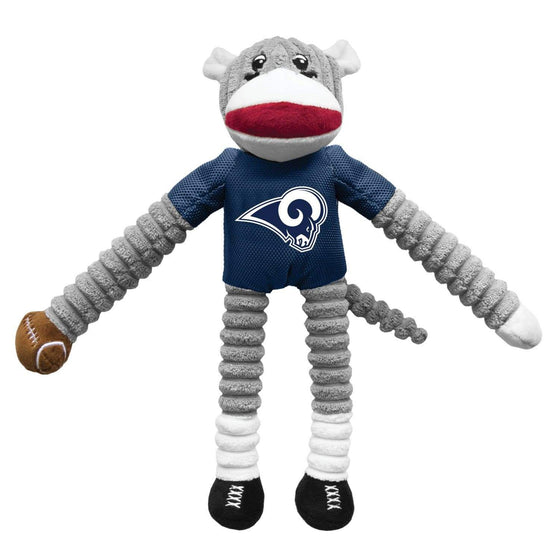 Little Earth Productions Dog-products NFL Los Angeles Rams Sock Monkey Pet Toy