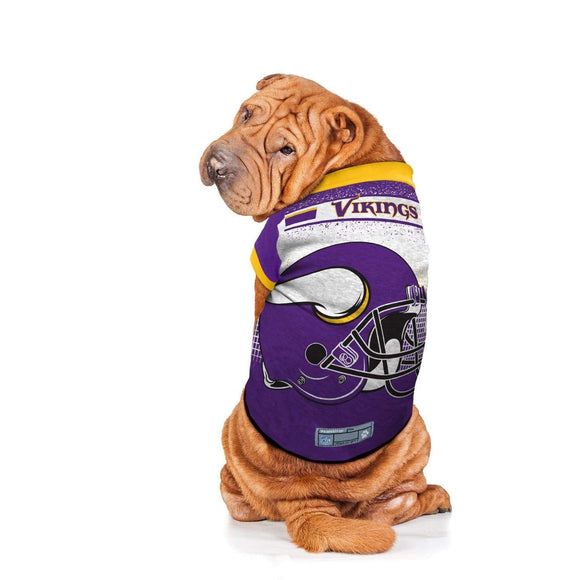Little Earth Productions Dog-products NFL Medium Minnesota Vikings Pet Performance Tee