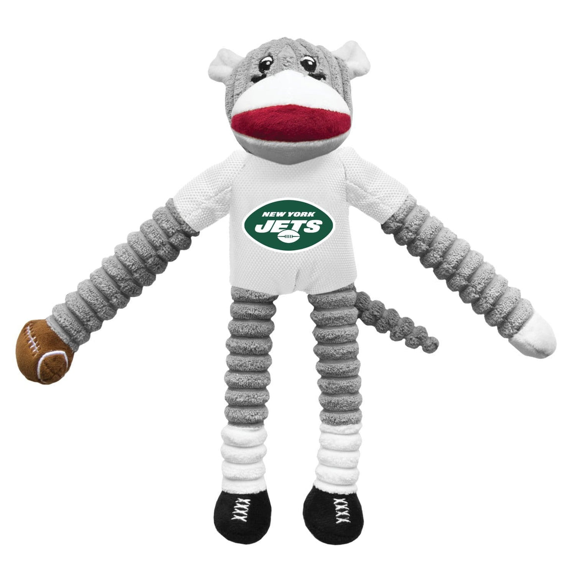 Little Earth Productions Dog-products NFL New York Jets Sock Monkey Pet Toy