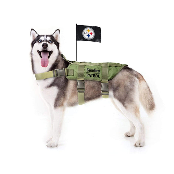 Little Earth Productions Dog-products NFL M/L Pittsburgh Steelers Pet Tactical Vest