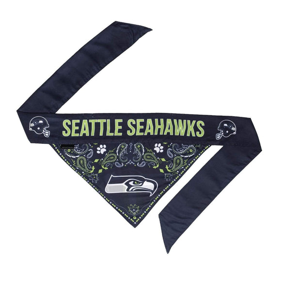 Little Earth Productions Dog-products NFL Small Seattle Seahawks Pet Reversible Paisley Bandana