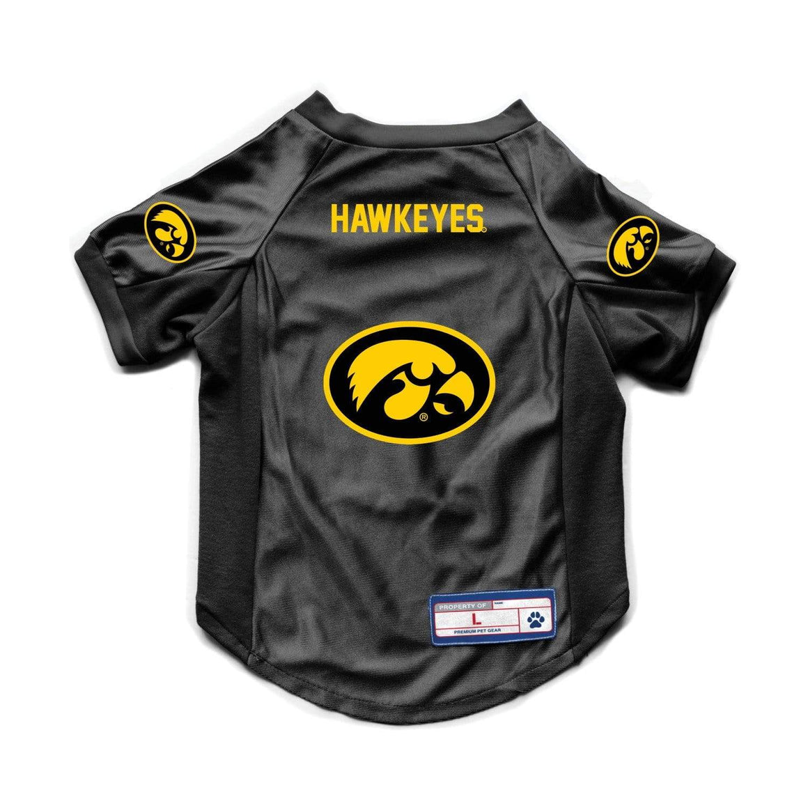 Little Earth Productions Dog-products NCAA Large Iowa Hawkeyes Pet Stretch Jersey