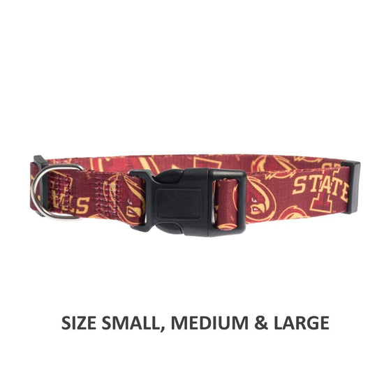 Little Earth Productions Dog-products NCAA Large Iowa State Cyclones Pet Nylon Collar