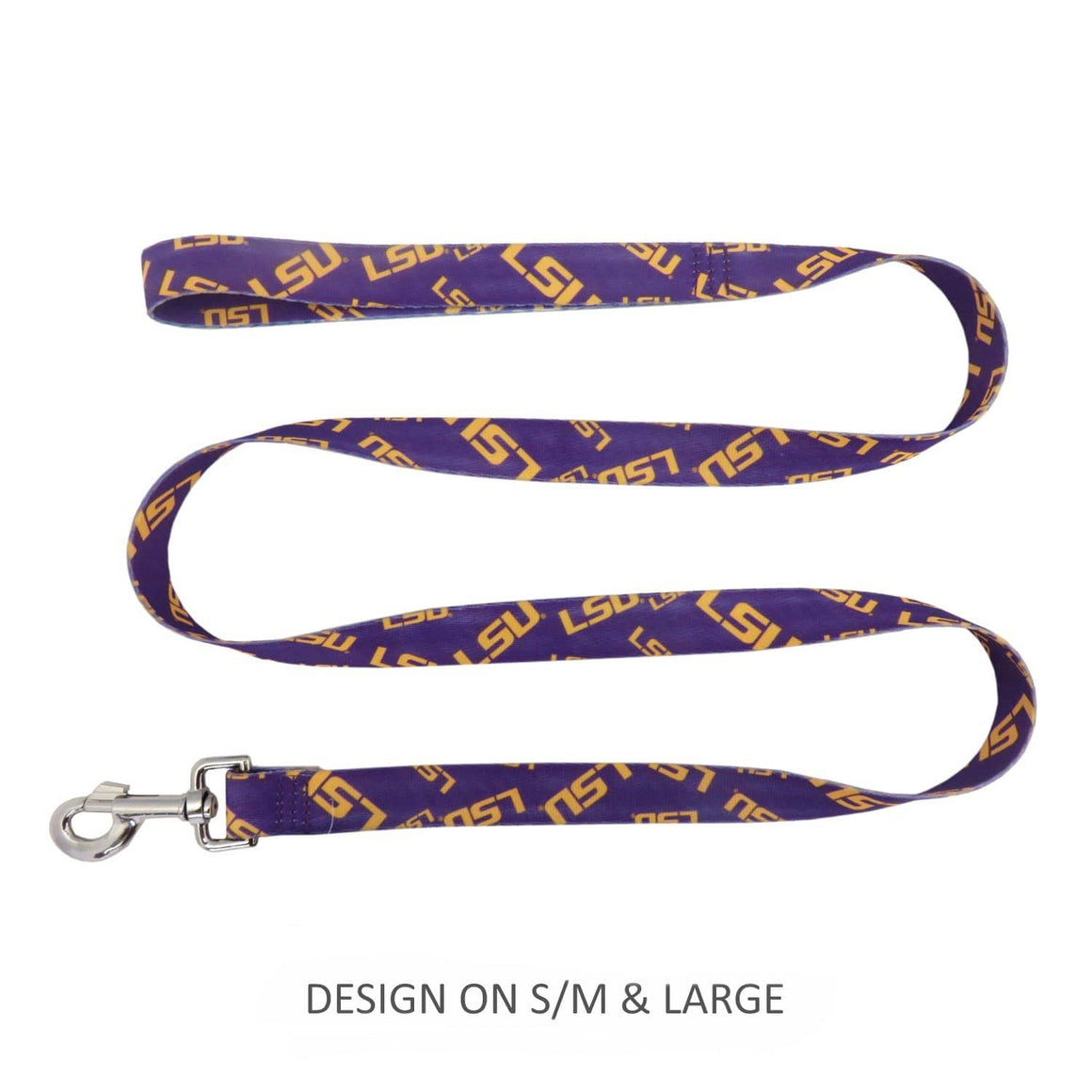 Little Earth Productions Dog-products NCAA Large Lsu Tigers Pet Nylon Leash