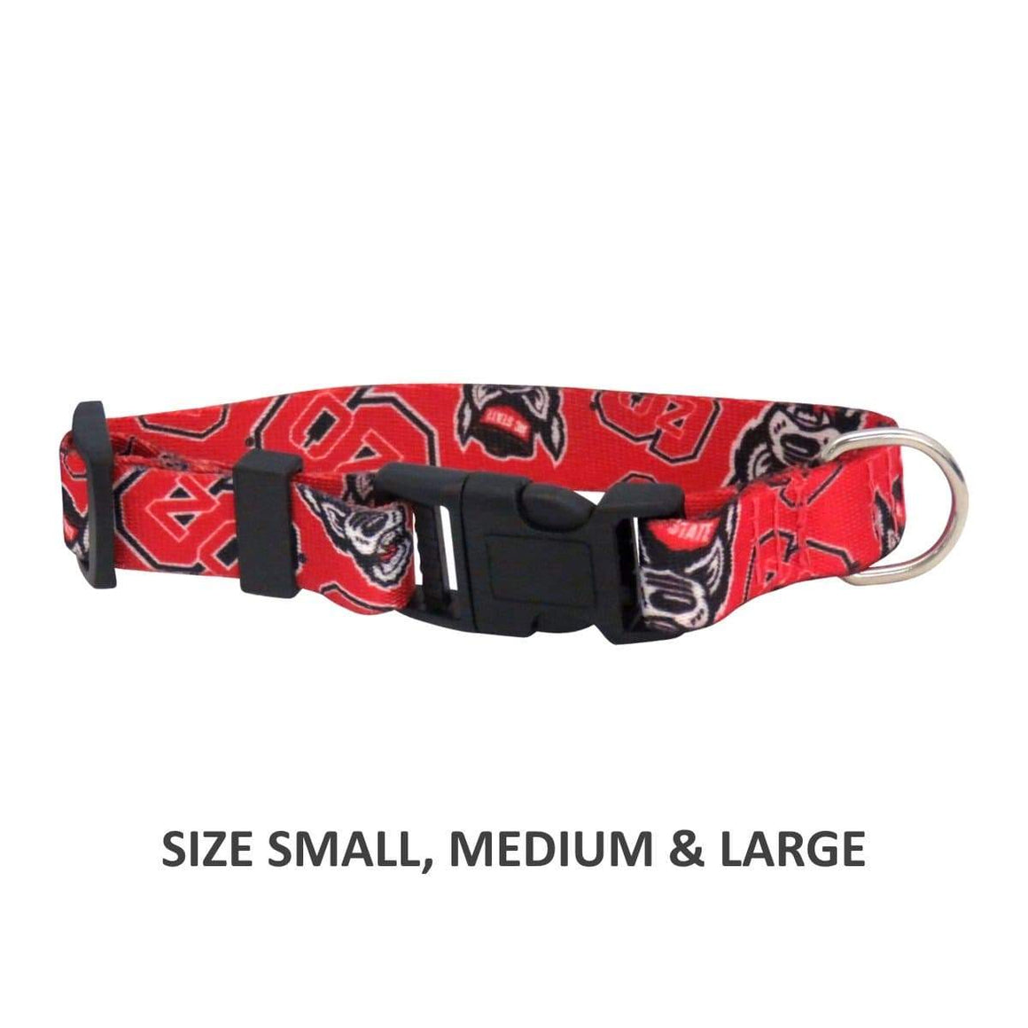 Little Earth Productions Dog-products NCAA Large Nc State Wolfpack Pet Nylon Collar