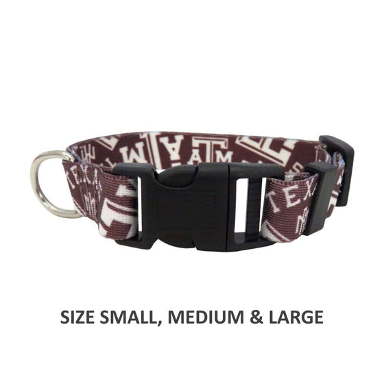 Little Earth Productions Dog-products NCAA Large Texas A&m Aggies Pet Nylon Collar