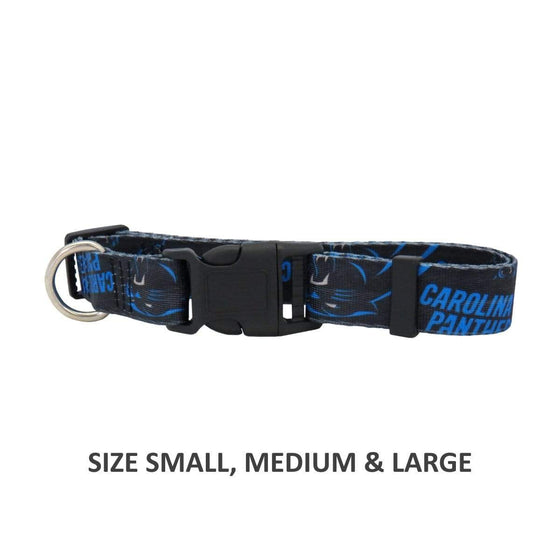 Little Earth Productions Dog-products NFL Large Carolina Panthers Pet Nylon Collar
