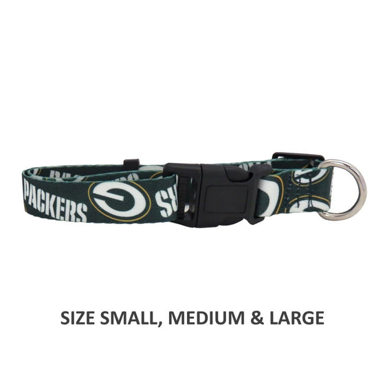 Little Earth Productions Dog-products NFL Large Green Bay Packers Pet Nylon Collar