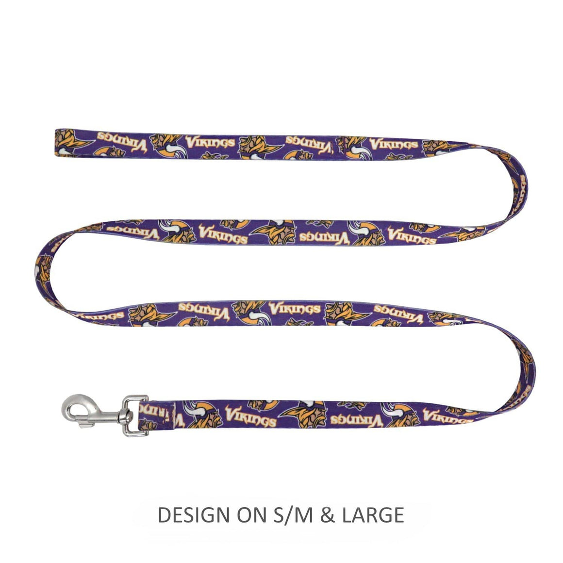 Little Earth Productions Dog-products NFL Large Minnesota Vikings Pet Nylon Leash