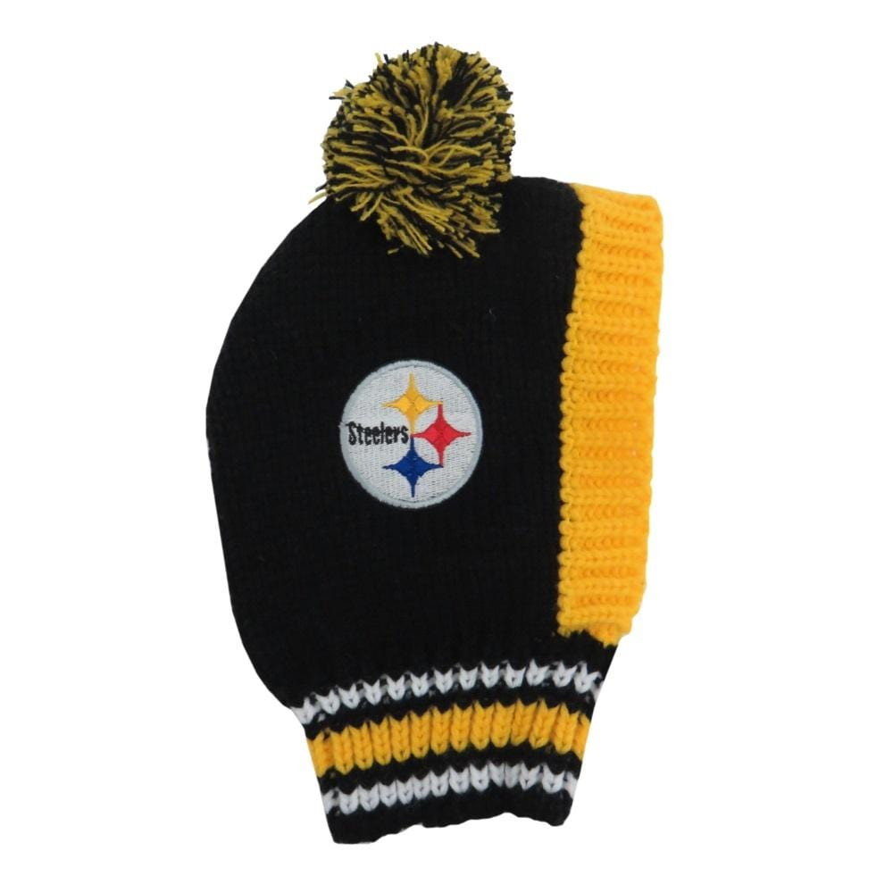 Little Earth Productions Dog-products NFL Large Pittsburgh Steelers Pet Knit Hat