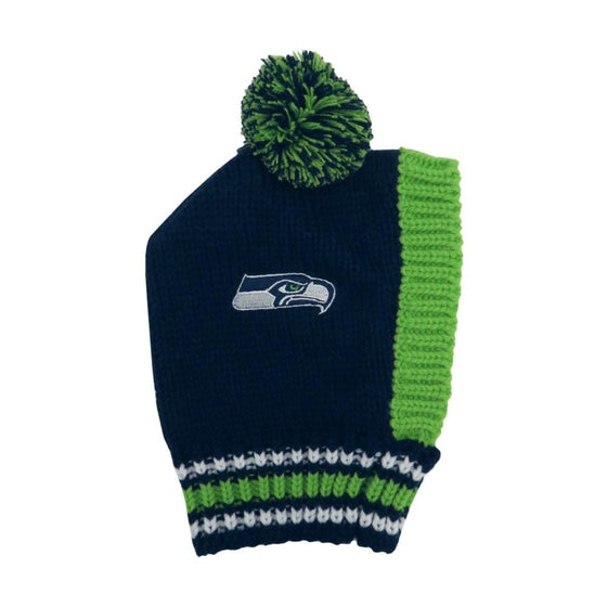 Little Earth Productions Dog-products NFL Large Seattle Seahawks Pet Knit Hat
