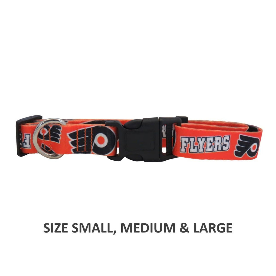 Little Earth Productions Dog-products NHL Large Philadelphia Flyers Pet Nylon Collar