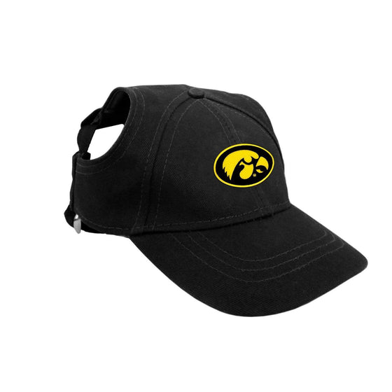 Little Earth Productions Dog-products NCAA Medium Iowa Hawkeyes Pet Baseball Hat