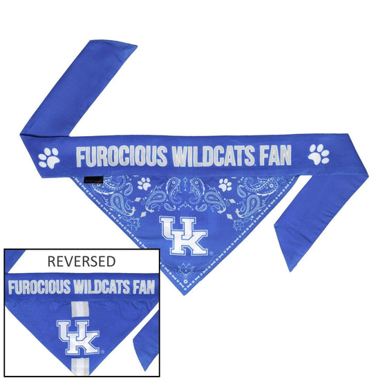 Little Earth Productions Dog-products NCAA Medium Kentucky Wildcats Pet Reversible Paisley Bandana