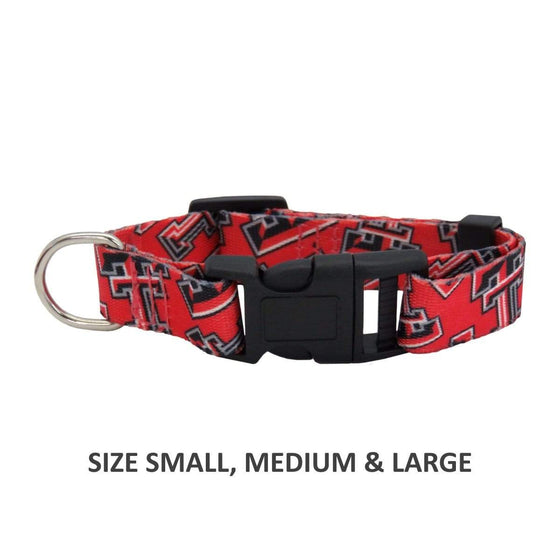 Little Earth Productions Dog-products NCAA Medium Texas Tech Red Raiders Pet Nylon Collar