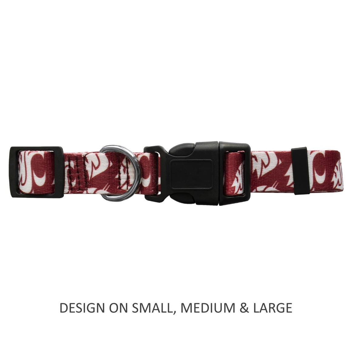 Little Earth Productions Dog-products NCAA Medium Washington State Cougars Pet Nylon Collar