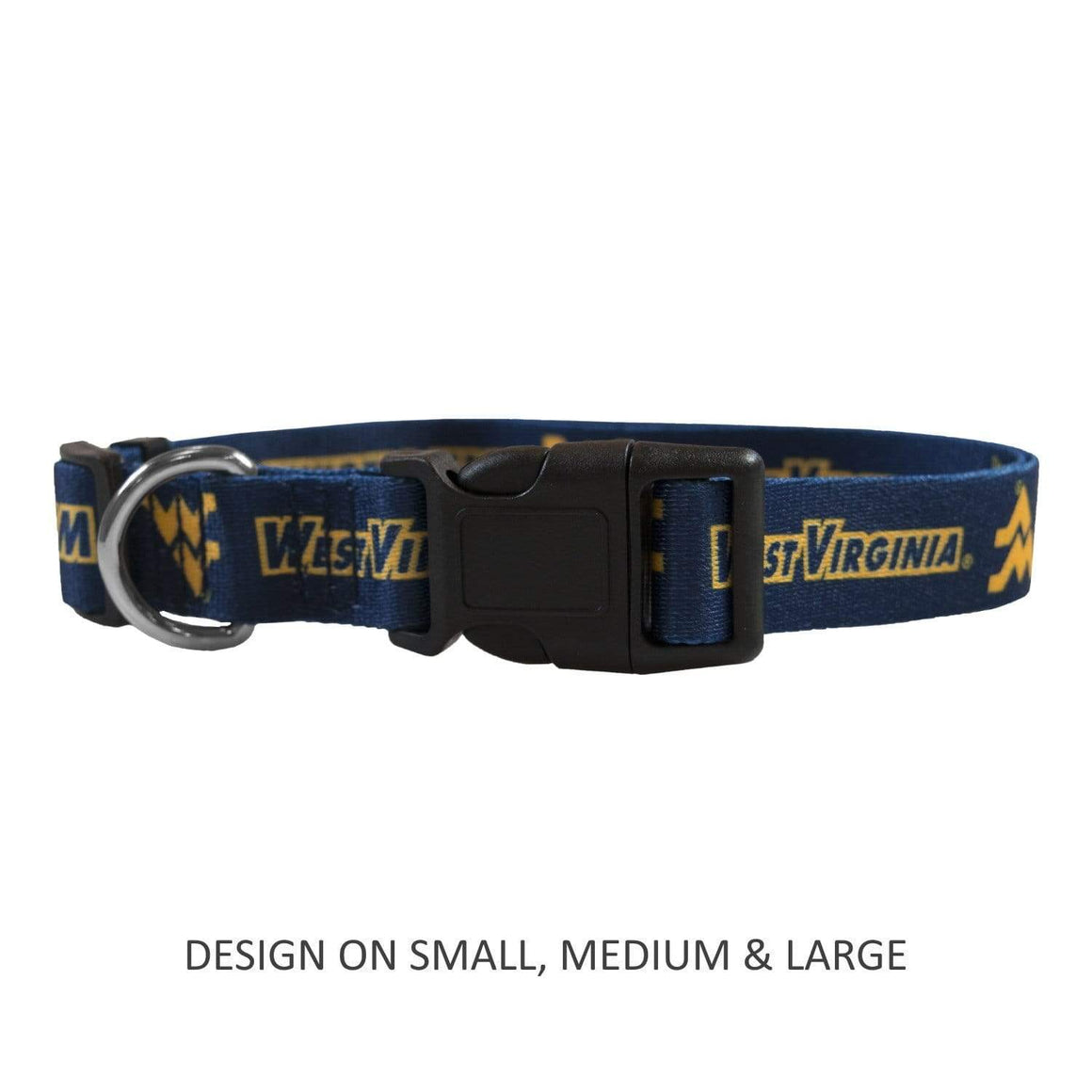 Little Earth Productions Dog-products NCAA Medium West Virginia Mountaineers Pet Nylon Collar