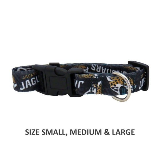 Little Earth Productions Dog-products NFL Medium Jacksonville Jaguars Pet Nylon Collar