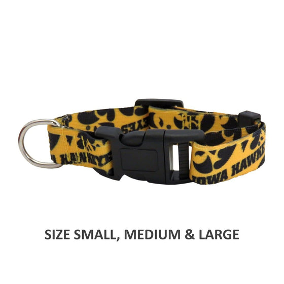 Little Earth Productions Dog-products NCAA Small Iowa Hawkeyes Pet Nylon Collar