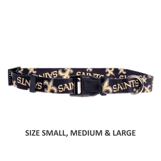 Little Earth Productions Dog-products NFL Small New Orleans Saints Pet Nylon Collar