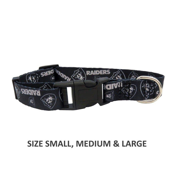 Little Earth Productions Dog-products NFL Small Oakland Raiders Pet Nylon Collar