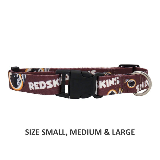 Little Earth Productions Dog-products NFL Small Washington Redskins Pet Nylon Collar
