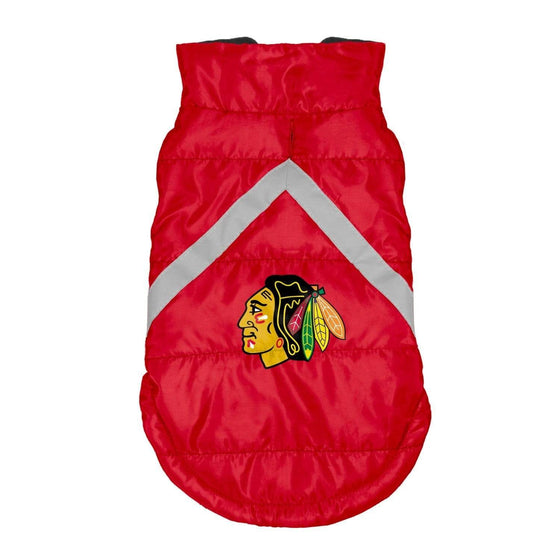 Little Earth Productions Dog-products NHL Teacup Chicago Blackhawks Pet Puffer Vest