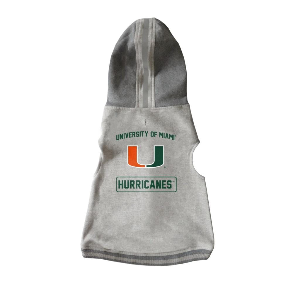 Little Earth Productions Dog-products NCAA XL Miami Hurricanes Pet Crewneck Hoodie