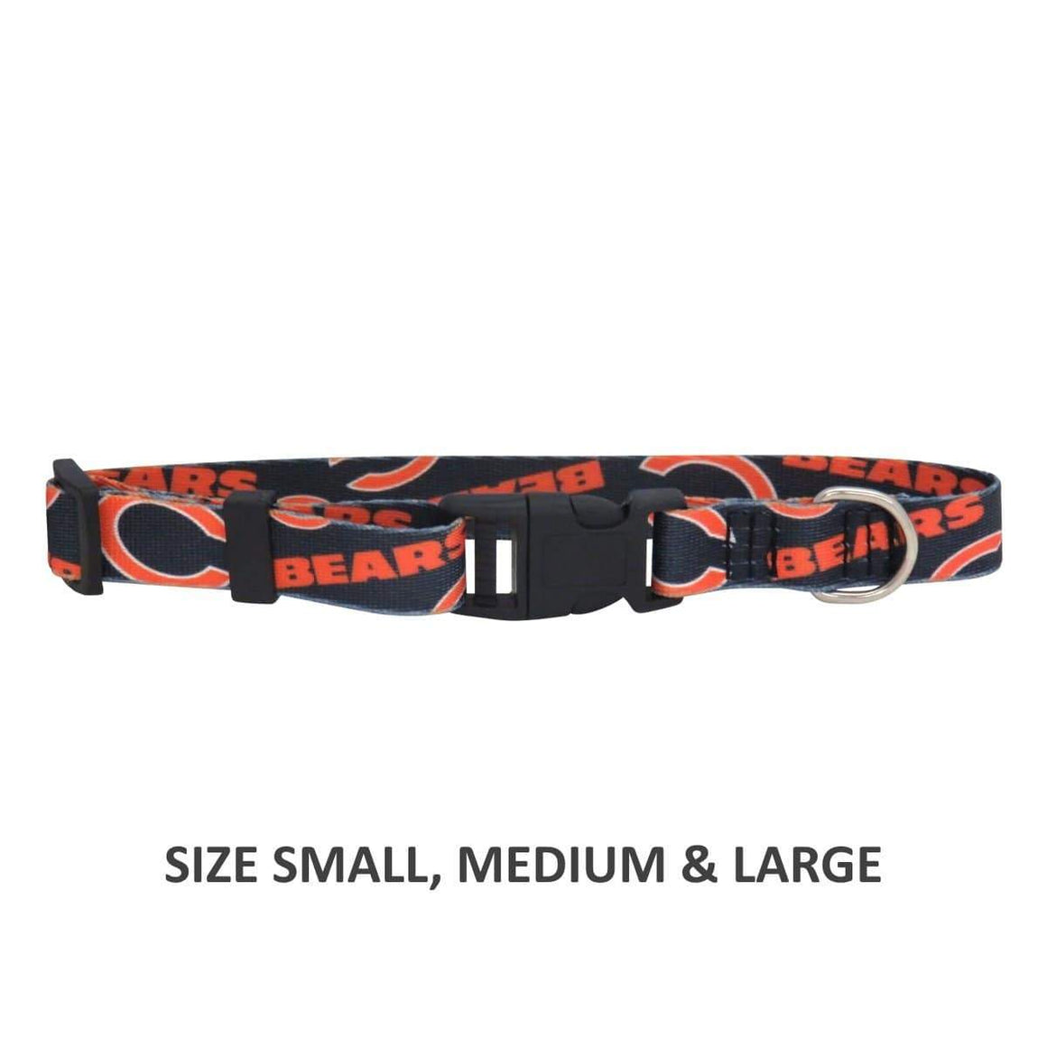 Little Earth Productions Dog-products NFL XS Chicago Bears Pet Nylon Collar