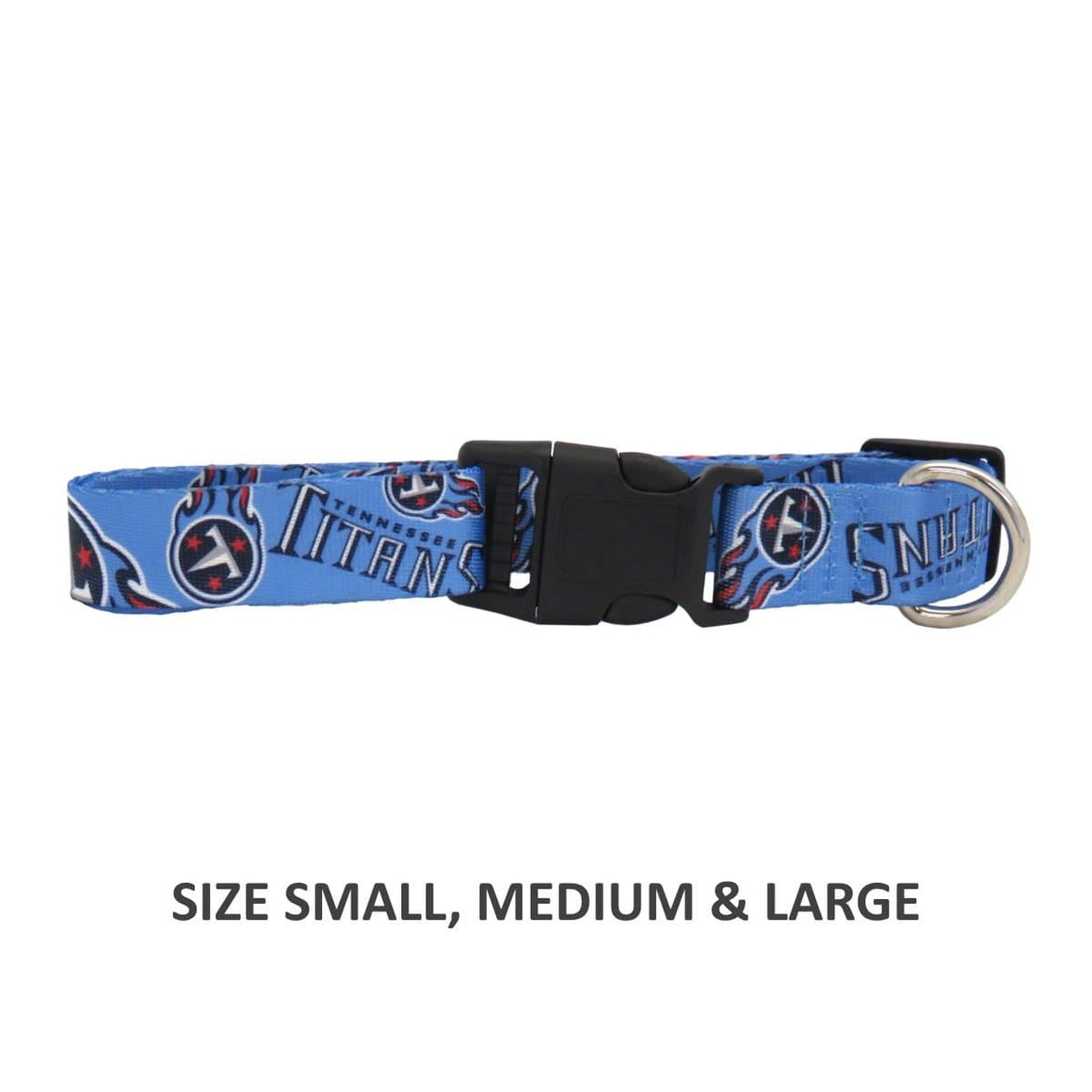 Little Earth Productions Dog-products NFL XS Tennessee Titans Pet Nylon Collar