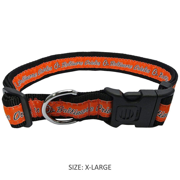 Pets First Dog-products MLB XL Baltimore Orioles Pet Collar By Pets First