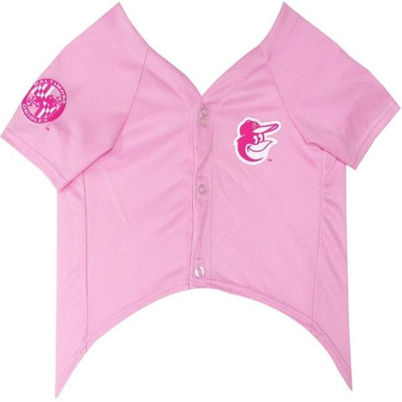 Pets First Dog-products MLB Small Baltimore Orioles Pink Pet Jersey