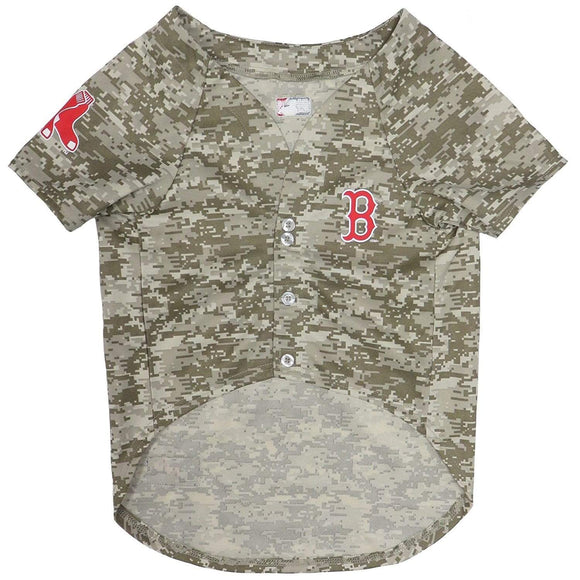 Pets First Dog-products MLB Large Boston Red Sox Pet Camo Jersey