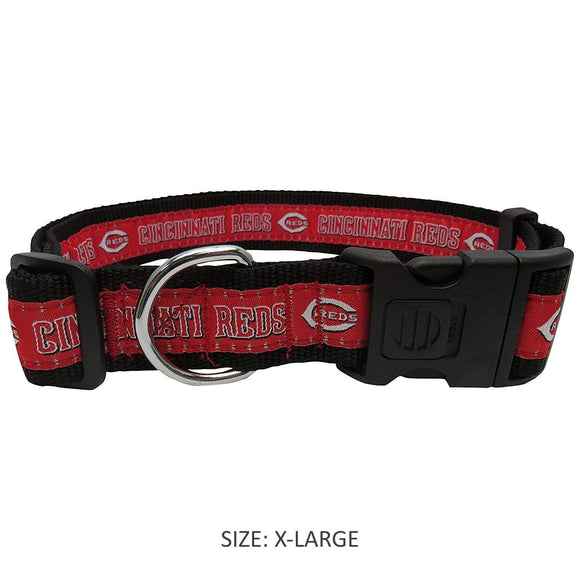 Pets First Dog-products MLB XL Cincinnati Reds Pet Collar By Pets First