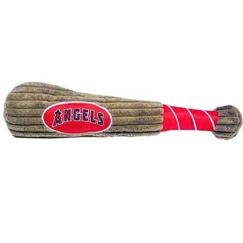 Pets First Dog-products MLB Los Angeles Angels Plush Baseball Bat Toy