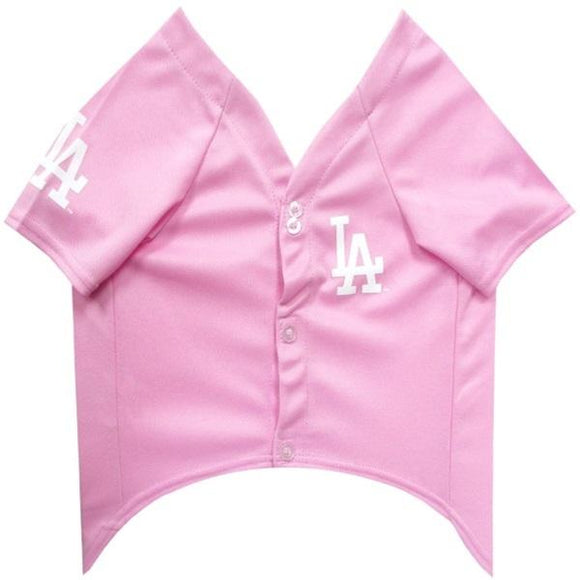 Pets First Dog-products MLB Large Los Angeles Dodgers Pink Pet Jersey