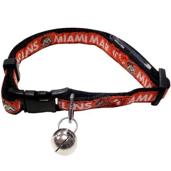 Pets First Dog-products MLB Miami Marlins Breakaway Cat Collar