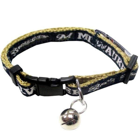 Pets First Dog-products MLB Milwaukee Brewers Breakaway Cat Collar