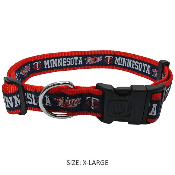 Pets First Dog-products MLB XL Minnesota Twins Blue Pet Collar By Pets First