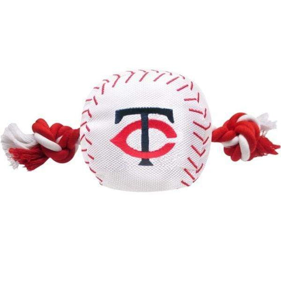 Pets First Dog-products MLB Minnesota Twins Nylon Baseball Rope Tug Toy