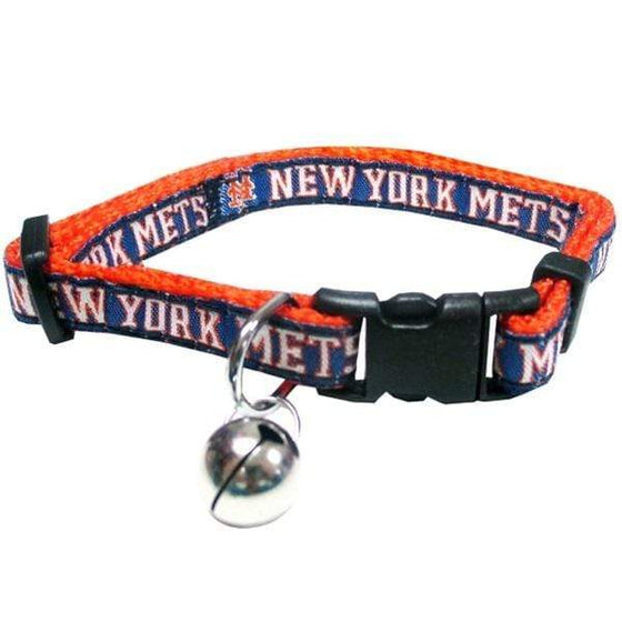 Pets First Dog-products MLB New York Mets Breakaway Cat Collar