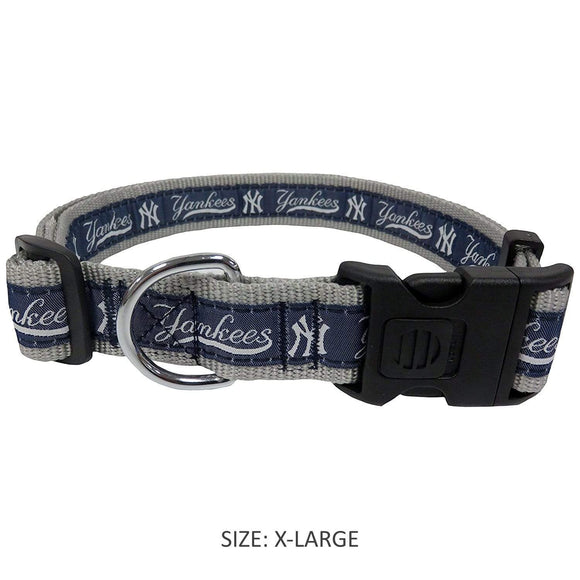 Pets First Dog-products MLB XL New York Yankees Pet Collar By Pets First