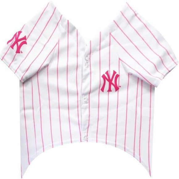 Pets First Dog-products MLB Medium New York Yankees Pink Pet Jersey