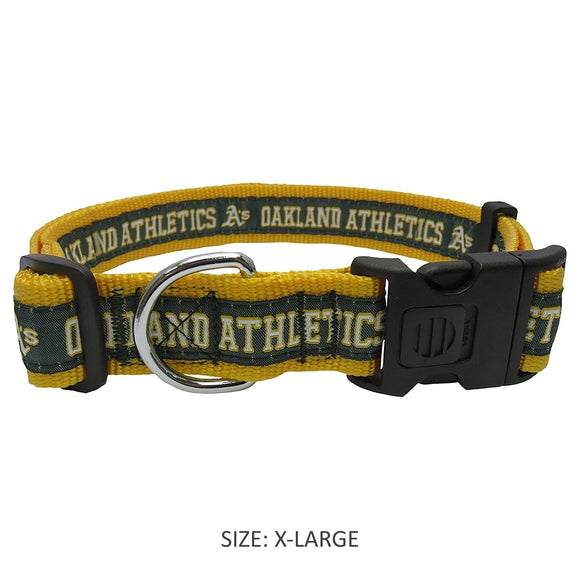 Pets First Dog-products MLB XL Oakland A's Pet Collar By Pets First