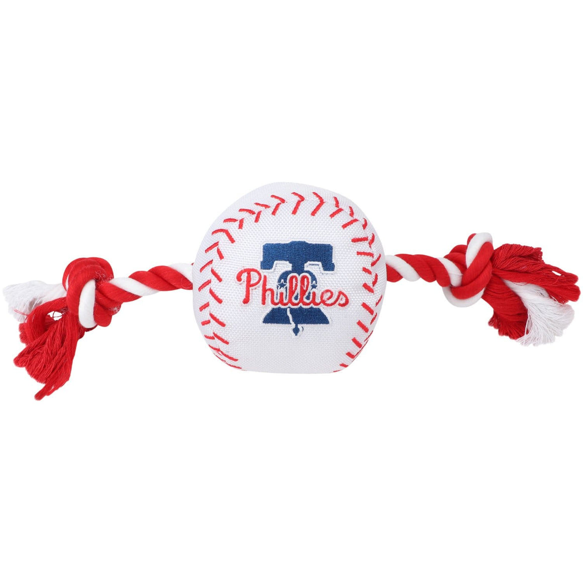 Pets First Dog-products MLB Philadelphia Phillies Nylon Baseball Rope Tug Toy