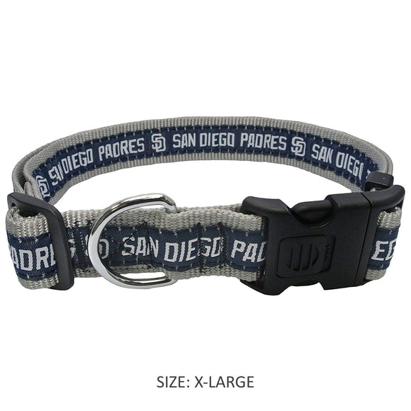 Pets First Dog-products MLB XL San Diego Padres Pet Collar By Pets First